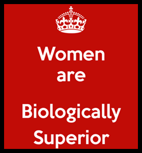 women biologically superior